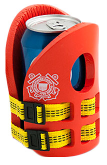 NEW Coast Guard Life Vest Koozies
