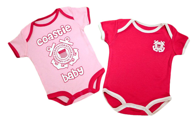 Coast Guard 2-Piece Pink Onesie Set