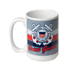 Coast Guard Distressed Emblem Mug