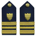 Hard Shoulder Board: Lieutenant Commander (3/4 Size)
