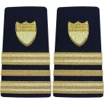 Enhanced (Soft) 3/4 Size  Shoulder Boards Lieutenant Commander (O4)