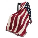 American Flag Afghan Throw
