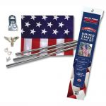 United States Flag Kit - 3'X5' Poly Cotton Flag