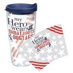 """My Hero Wears Combat Boots & Dog Tags"" Tervis Tumbler With Lid - 24 oz"