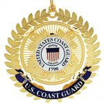 USCG Logo Ornament Filligree Leaves