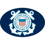 """USCG Crest"" Oval Magnet"