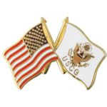American Flag / Coast Guard Flag Pin
