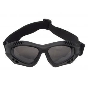 Rothco ANSI Rated Tactical Goggles - Black/Smoke Front View