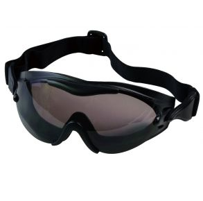 Rothco SWAT Tec Single Lens Tactical Goggle - Black Front View