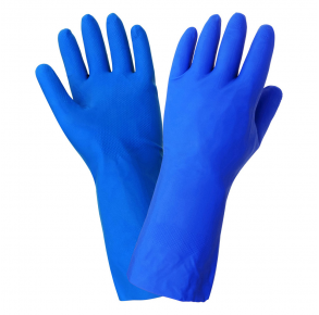 Global Glove Diamond Finish Blue Nitrile Gloves - Size XL - 12 Pack Front View
