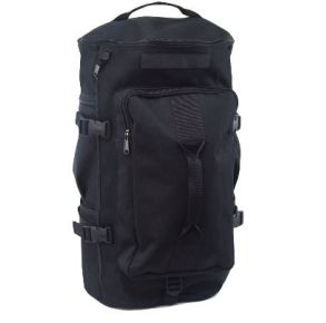 Flying Circle GTFO Top Load Duffel Backpack - Black Front View