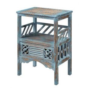 Coast to Coast Accents One Drawer Accent Table Left View