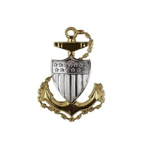 Coast Guard Cap Device: E7 Chief Petty Officer - Miniature