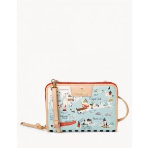 Spartina 449 Greetings From Northeastern Harbors All-in-One Phone Crossbody Handbag Front View