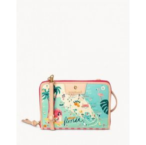 Spartina 449 Greetings From Florida All-in-One Phone Crossbody Handbag Front View