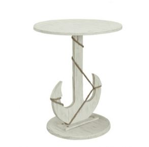 Pieces in Paradise Sanibel Anchor Accent Table Front View