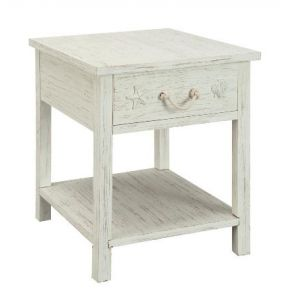 Pieces in Paradise Sanibel One Drawer End Table Front View