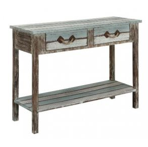 Pieces in Paradise Two Drawer Console Table Front View