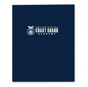 Coast Guard Academy 2-Pocket Embossed Folder - Navy Front View