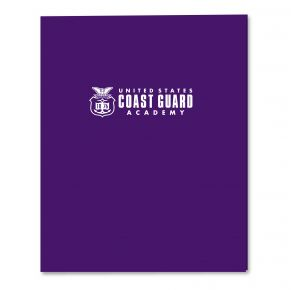 Coast Guard Academy 2-Pocket Embossed Folder - Purple Front View