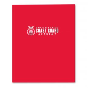 Coast Guard Academy 2-Pocket Embossed Folder - Red Front View
