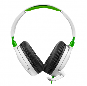 Turtle Beach Recon 70 Wired Gaming Headset - White/Green Front View