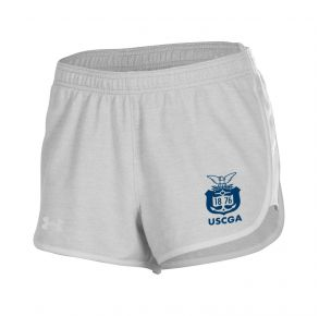Coast Guard Academy Under Armour Youth Girls Game Day Shorts Front View