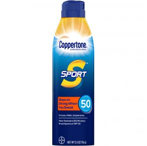 Coppertone Sport Sunscreen Spray SPF 50 - 5.5 oz. Front of Can View