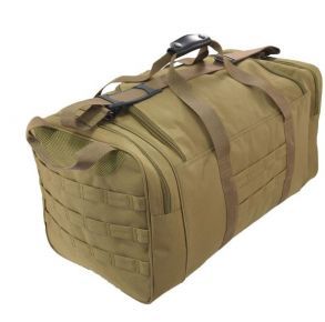 Flying Circle Goliad Duffel Backpack - Coyote Brown Front and Side of Bag View