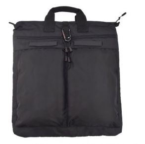 Flying Circle Large Helmet Bag - Black Front of Bag View
