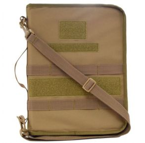 Secret Squirrel Tactical Padfolio - Coyote Brown Front of Padfolio View