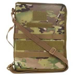 Flying Circle Secret Squirrel Tactical Padfolio - MultiCam Front of Padfolio View