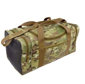 Flying Circle Square Sports Duffel - MultiCam Front of Bag View