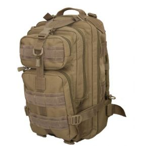 Flying Circle Presidio Tactical Assault Pack - Coyote Brown Front of Bag View