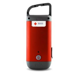 Eton American Red Cross Clipray Clip-on Flashlight and Charger Front of Flashlight View