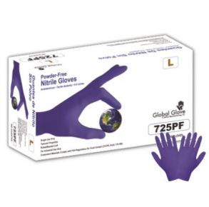 Economy Dark Violet Powder-Free Nitrile Industrial-Grade Disposable Gloves