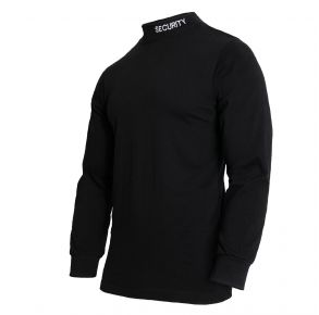Rothco Mens Security Mock Turtleneck - Black - Size 3XL Front View