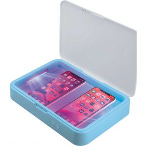 First Health Dual UV-C Sanitizing Box for 2 Phones or Tablet Front View