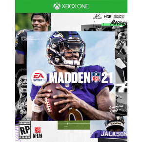 Microsoft Xbox One Madden NFL 21 Game Cover