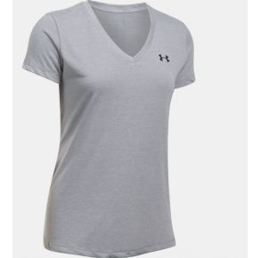 Under Armour Womens Threadborne Train Twist V-Neck Short Sleeve T-Shirt Front View