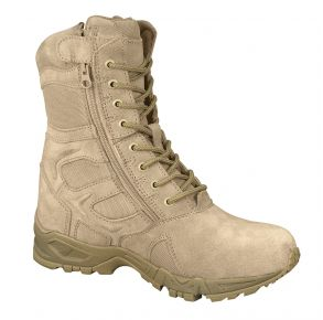 "Rothco Mens 8"" Forced Entry Deployment Boot With Side Zipper Left Side Angle View"