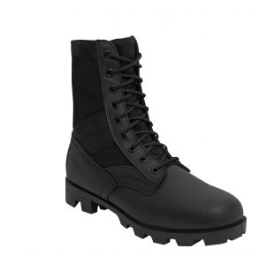 Rothco Mens G.I. Type Black Steel Toe Jungle Boot Right Side Angle View