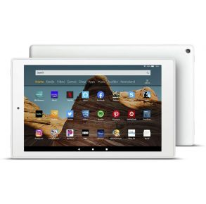 Amazon Fire HD 10 Tablet - White Front View