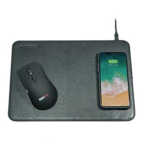 Mobile Edge Wireless Charging Mouse Pad - Black Front View