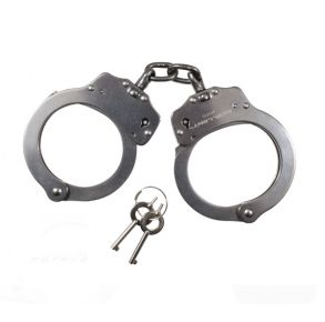 Rothco NIJ Approved Stainless Steel Handcuffs Front View