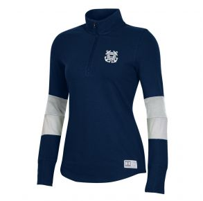 Coast Guard Under Armour Womens Gameday 1/4 Zip Pullover Front View