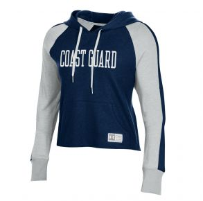 Coast Guard Under Armour Womens Gameday Waffle Hoodie Sweatshirt Front View