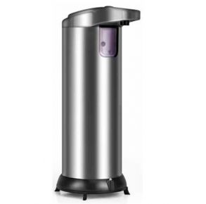 First Health Contactless Automatic Soap Dispenser - Silver Front View