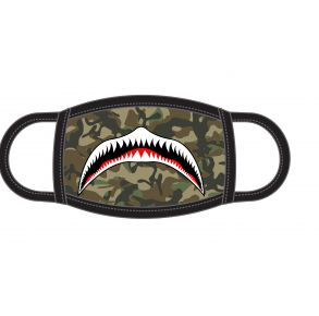 ADTN Face Mask - Youth- Camo Shark Front View