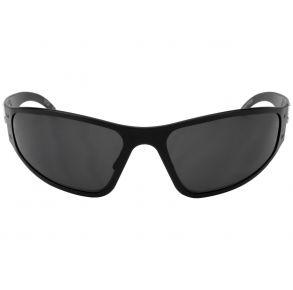 Gatorz Eyewear Wraptor Black/Smoked Polarized Sunglasses Front View
